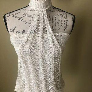 Bcbg white knit top